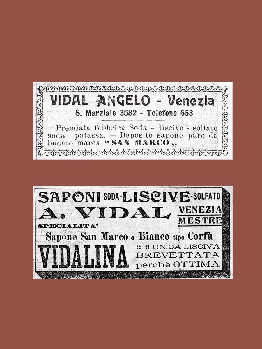Venice Olfactory primi articoli pubblicitari Vidal Saponi e Profumi